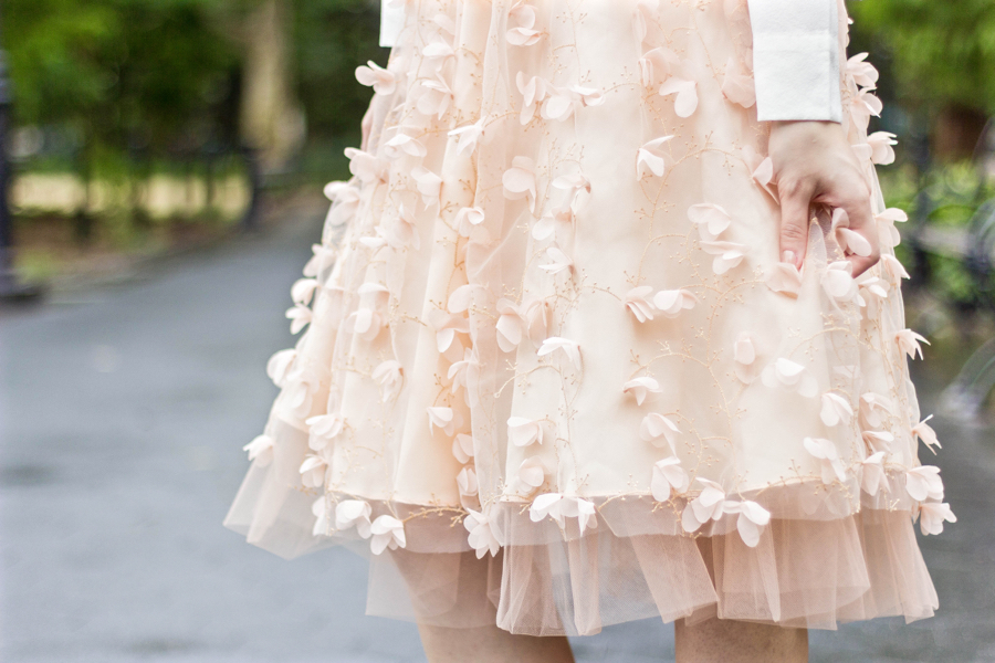 NEW Eva Franco Fluttered Fete Pink Tulle Skirt