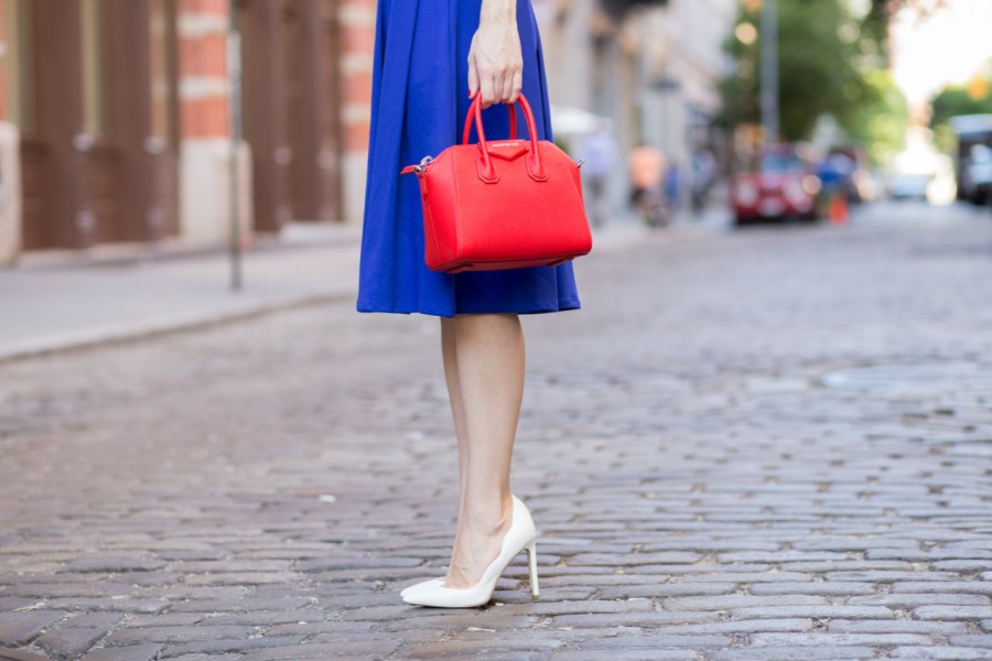 kmills collection, kmills, kmills bow, kmills royal blue, kmills collection michelleo, kmills collection bow dress, gilt heels, ava aiden white scallop heels, ava aiden scallop heels, givenchy mini antigona, bagdujour, bagdujor givenchy mini antigona satchel in red