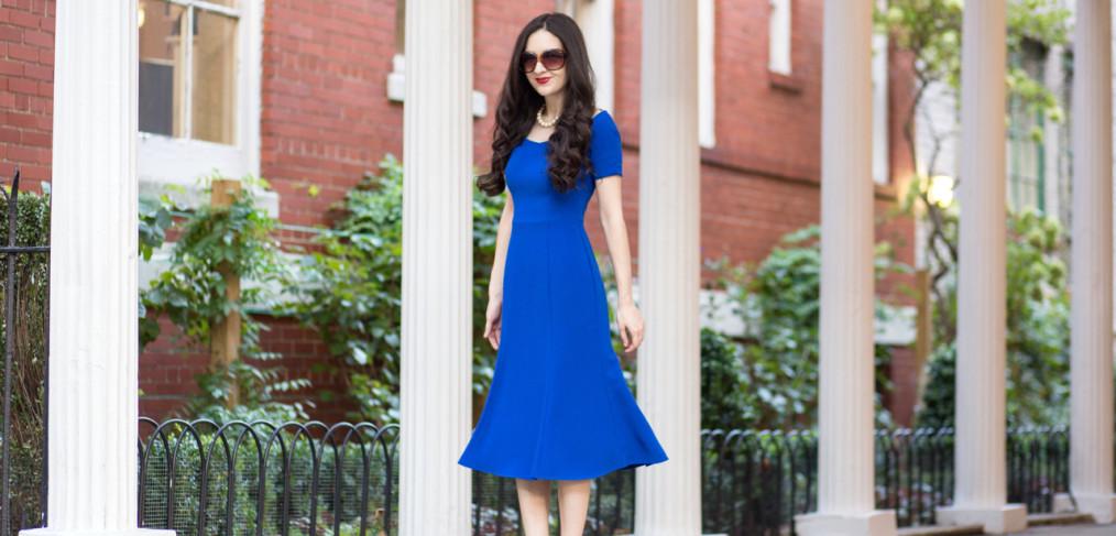black halo jackie o, black halo nella dress, black halo royal blue dress, black halo blue dress, black halo work dress, charles by charles david, charles david pact pump, charles david pact pump in floral