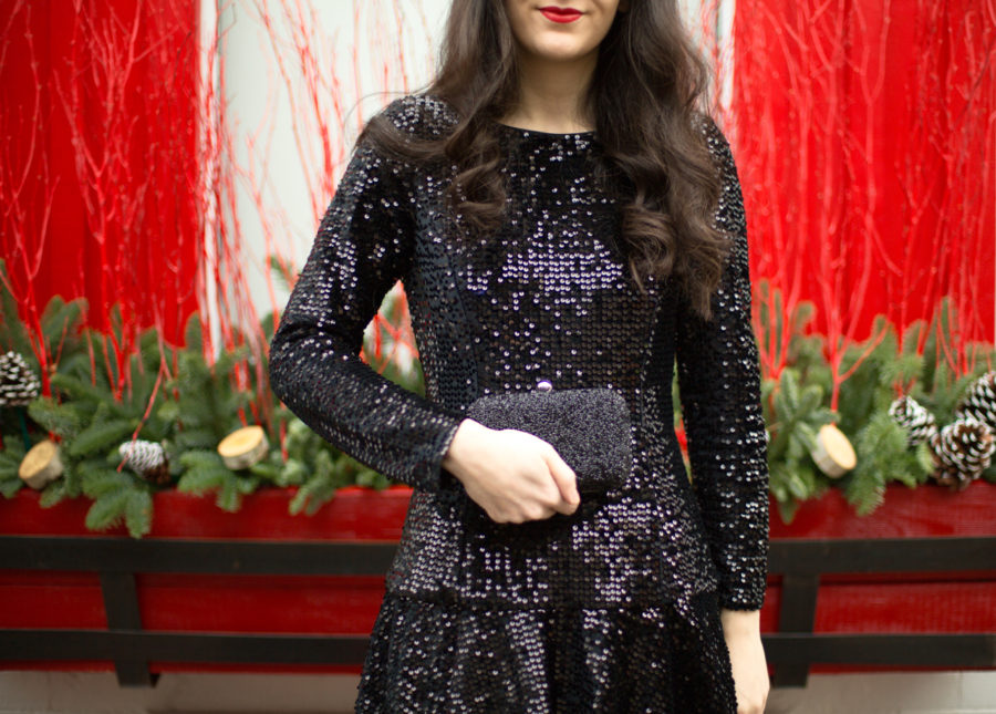 Sequin Fit And Flare Dress Dressed Up Deniz
