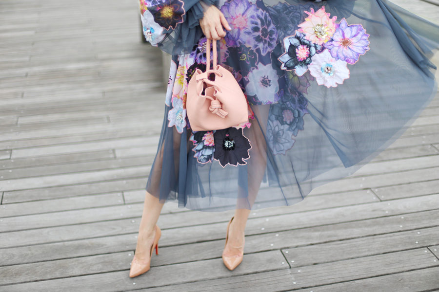 christian louboutin pigalle nude 100 mm, christian louboutin pigalle follies nude, esin akan mini paris in rose, esin akan purse, esin akan designs, asos , ASOS EDITION Smock Dress with Applique Embellished Flowers, asos lilac dress